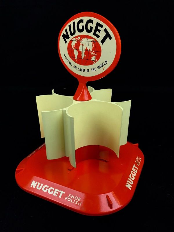 Nugget Shoe Polish Shop Display Unit / Rack / 1960's / 70's Collectable RARE - 222868158942